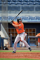 Baltimore Orioles Nick Horvath (94) at bat during a Florida Instructional League game against the Tampa Bay Rays on October 1, 2018 at the Charlotte Sports Park in Port Charlotte, Florida.  (Mike Janes/Four Seam Images)