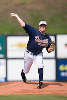 Starting pitcher David Francis (20) of the Danville Braves in action at Dan Daniels Park in Danville, VA, Sunday July 27, 2008.