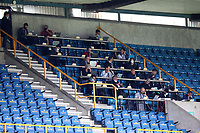 Social distancing by the written press in the press box during Millwall vs Swansea City, Sky Bet EFL Championship Football at The Den on 30th June 2020
