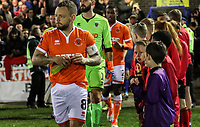 Blackpool's Jay Spearing leads his side out<br /> <br /> Photographer Andrew Kearns/CameraSport<br /> <br /> The Emirates FA Cup Second Round - Solihull Moors v Blackpool - Friday 30th November 2018 - Damson Park - Solihull<br />  <br /> World Copyright © 2018 CameraSport. All rights reserved. 43 Linden Ave. Countesthorpe. Leicester. England. LE8 5PG - Tel: +44 (0) 116 277 4147 - admin@camerasport.com - www.camerasport.com