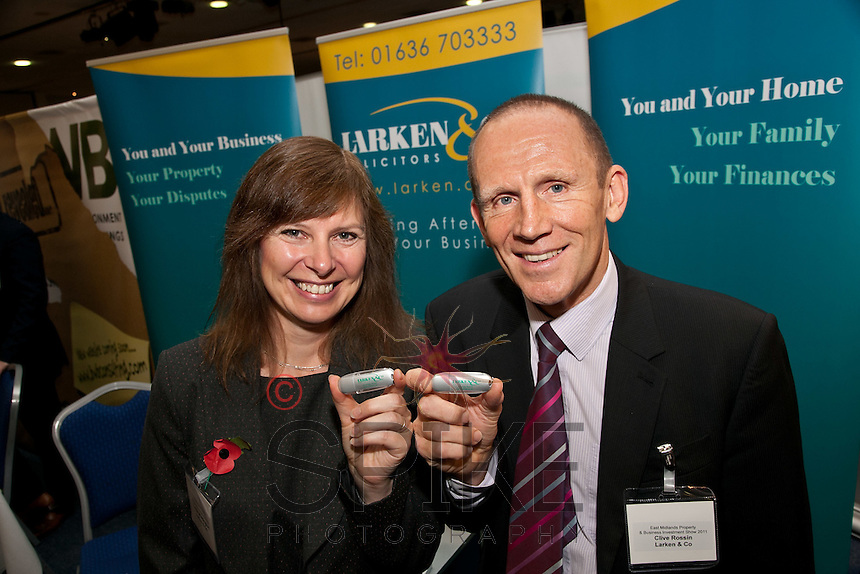 Remember our name - Newark based Larken & Co's Linda Whittington and Clive Rossin were handing out USB memory sticks