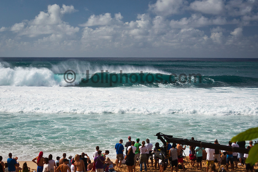 BANZAI PIPELINE, Oahu/Hawaii (Friday, December 9, 2011) – The Billabong Pipe Masters in Memory of Andy Irons ran for the second consecutive day with firing 10 foot (3-4 metre metre) waves. Today's proceedings commenced with Round 3 and completed Rounds 4 and 5 by day's end...The Final stop on the 2011 ASP World Title Series and the third Jewel of the Vans Triple Crown, the Billabong Pipe Masters plays a vital role in both qualification campaigns for the ASP Top 34 for 2012 while representing the deciding event for the prestigious Hawaiian trifecta title...John John Florence (haW) was the standout again today score a perfect 10 point ride in each of his heats and advancing to the quarter finals. Kelly Slater (USA), Joel Parkinson (AUS) and Gabriel Medina (BRA) also advanced tot eh quarter finals.  Photo: joliphotos.com