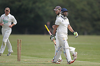 Jas Hothi of Rainahm is out during Bentley CC (Bowling) vs Rainham CC, T Rippon Mid Essex Cricket League Cricket at Coxtie Green Road on 9th June 2018