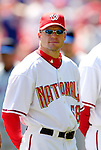 11 April 2006: Joey Eischen, pitcher for the Washington Nationals, looks back to the dugout prior to the Nationals' Home Opener against the New York Mets in Washington, DC. The Mets defeated the Nationals 7-1 to start the 2006 season at RFK Stadium...Mandatory Photo Credit: Ed Wolfstein Photo..