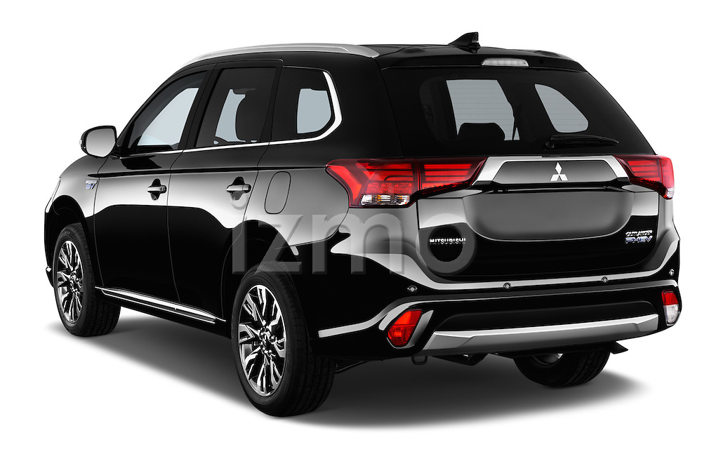 Car pictures of rear three quarter view of 2016 Mitsubishi Outlander Phev PHEV 5 Door Suv Angular Rear