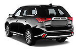 Car pictures of rear three quarter view of 2016 Mitsubishi Outlander Phev PHEV 5 Door Suv Angular Rear