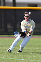John Schultz #2 of the Pittsburgh Panthers during a game vs the Purdue Boilermakers at the Big East-Big Ten Challenge at Walter Fuller Complex in St. Petersburg, Florida;  February 20, 2011.  Purdue defeated Pitt 5-3.  Photo By Mike Janes/Four Seam Images