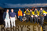 Colm Plunket pictured here with his wife Jacqueline owes his life to the men of the Derrynane Inshore Rescue boat, pictured back l-r; Dave O'Mahony(Sec Derrynane Inshore), Jerry Clifford(cox), Richard Frewin, Jonathan Hughes & Mikey Martin.