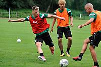 MARIENHOF - Voetbal, Trainingskamp FC Groningen , seizoen 2017-2018, 13-07-2017, FC Groningen speler Ajdin Hrustic en FC Groningen speler Jesper Drost