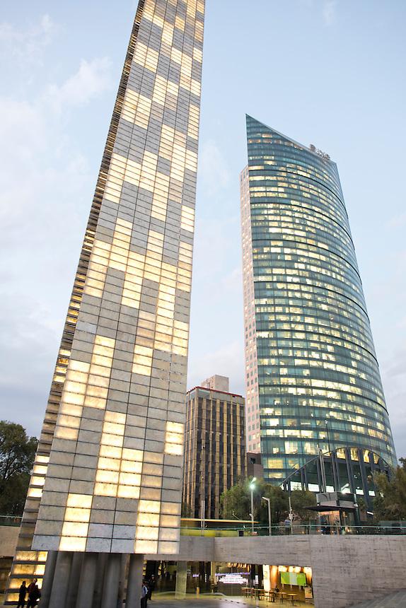 The CCD and Estela de Luz, Reforma, Mexico City