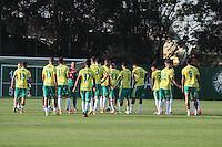 SÃO PAULO,SP,14.07.2016 - FUTEBOL-PALMEIRAS - Jogadores durante treino na Academia de Futebol na Barra Funda,zona oeste de São Paulo, na tarde desta quinta-feira (14).  (Foto : Marcio Ribeiro / Brazil Photo Press)