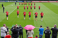 General view during the Wales open Training session ahead of the opening FIFA World Cup 2018 Qualification match against Moldova at The Vale Resort, Cardiff, Wales on 31 August 2016. Photo by Mark  Hawkins / PRiME Media Images.