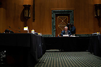 Internal Revenue Service Commissioner Charles P. Rettig testifies before the Senate Finance Committee on a hearing about the 2020 Filing Season and IRS COVID-19 Recovery at the U.S. Capitol in Washington DC on June 30th, 2020.<br /> Credit: Anna Moneymaker / Pool via CNP /MediaPunch