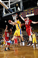 SAN ANTONIO, TX - FEBRUARY 23, 2008: The University of the Incarnate Word Cardinals vs. the St. Mary's University Rattlers Men's Basketball at Bill Greehey Arena. (Photo by Jeff Huehn)
