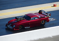 Apr. 14, 2012; Concord, NC, USA: NHRA pro mod driver Scott Ray during qualifying for the Four Wide Nationals at zMax Dragway. Mandatory Credit: Mark J. Rebilas-