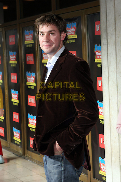 "JOHN KRASINSKI.""Family Guy Presents Stewie Griffin: The Untold Story"" DVD Premiere Arrivals held at the Mann National Theater,Westwood, California.  .September 27th, 2005.Photo Credit: Zach Lipp/AdMedia/Capital Pictures.Ref: ZL/ADM.half length black suit jacket.www.capitalpictures.com.sales@capitalpictures.com.© Capital Pictures."