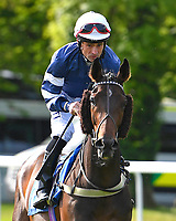 Bird for Life ridden by Dane O'Neill goes down to the start of The Smith & Williamson Handicap (Class 6)     during Afternoon Racing at Salisbury Racecourse on 17th May 2018