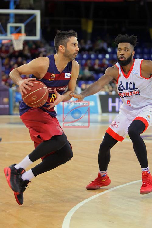 League ACB-ENDESA 2016/2017 - Game: 21.<br /> FC Barcelona Lassa vs ICL Manresa: 92-72.<br /> Juan Carlos Navarro vs Scott Suggs.