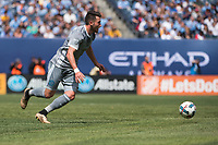 BRONX, New York - Sunday, April 23, 2017: New York City FC takes on Orlando City SC at home at Yankee Stadium during the MLS regular season.