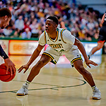 16 December 2018: University of Vermont Catamount Guard Ben Shungu, a Redshirt Sophomore from Burlington, VT, in first half action against the Northeastern University Huskies at Patrick Gymnasium in Burlington, Vermont. The Catamounts defeated the Huskies 75-70 in NCAA Division I America East play. Mandatory Credit: Ed Wolfstein Photo *** RAW (NEF) Image File Available ***
