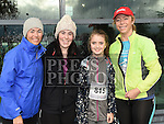 Fiona and Aoife Kelly and Hayley and Lisa Hughes who took part in the SOSAD 5K run. Photo:Colin Bell/pressphotos.ie