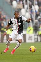 2nd February 2020; Allianz Stadium, Turin, Italy; Serie A Football, Juventus versus Fiorentina; Douglas Costa of Juventus turns inside on the ball