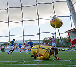 21.10.2018 Hamilton v Rangers: James Tavernier sticks his first penalty past Gary Woods