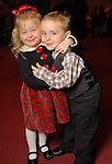 Penny,4, and Quincy,3, at the opening night of The Nutcracker at the Wortham Theater Friday Nov. 27,2009. (Dave Rossman/For the Chronicle)...Eds note: Mother did not want to give last names.