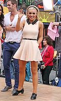 "Opera singer Katherine Jenkins from ""Dancing With the Stars"" Season 14 outside ABC's ""Good Morning America"" Times Square studio in New York, 23.05.2012...Credit: Rolf Mueller/face to face / Mediapunchinc"