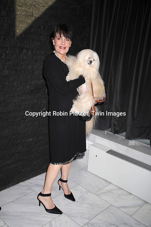 "Linda Dano and her dog Mo Atardi..posing for photographers at The ""Bideawee Ball: For The Love of Pets"" Gala on  May 6, 2008 at Espace at The Atelier in New York City. ....Robin Platzer, Twin Images"