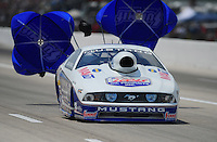 Apr. 29, 2012; Baytown, TX, USA: NHRA pro stock driver Larry Morgan during the Spring Nationals at Royal Purple Raceway. Mandatory Credit: Mark J. Rebilas-