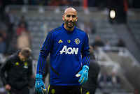 Goalkeeper Lee Grant of Man Utd pre match during the Premier League match between Newcastle United and Manchester United at St. James's Park, Newcastle, England on 6 October 2019. Photo by J GILL / PRiME Media Images.