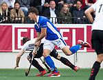 AMSTELVEEN -  Jasper Luijkx (Kampong)    tijdens  de  eerste finalewedstrijd van de play-offs om de landtitel in het Wagener Stadion, tussen Amsterdam en Kampong (1-1). Kampong wint de shoot outs.  . COPYRIGHT KOEN SUYK