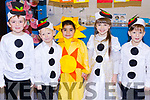 "Infants at Moyderwell National School Infant Class getting ready for their ""Children of the World"" Christmas play on Wednesday morning, l-r Ben O'Sullivan, Ivan Celombijev, Eva Byrne, Violetta Logina and Daniel Celombijev."