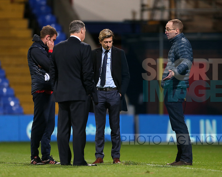 Crystal Palace's chairman Steve Parish has strong words with the groundsman after the final whistle about the pitch<br /> <br /> - Barclays Premier League - Crystal Palace vs Sunderland- Selhurst Park - London - England - 3rd November 2014  - Picture David Klein/Sportimage