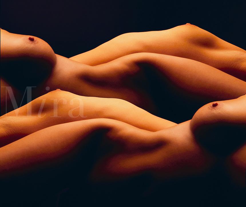 Nude female torso.