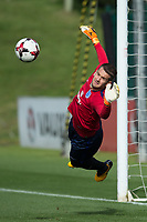 Tom Heaton during the part open training session of the  England national football squad at St George's Park, Burton-Upon-Trent, England on 31 August 2017. Photo by James Williamson.