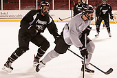 Alex Cromwell (PC - 28) - The Providence College Friars practiced on the rink at Fenway Park on Friday, January 6, 2017.
