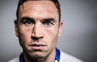 Picture by Alex Whitehead/SWpix.com - 24/08/2015 - Rugby League - 2015 Ladbrokes Challenge Cup Final Preview - Hull KR vs Leeds Rhinos - Doncaster Racecourse, Doncaster, England - Leeds Rhinos captain Kevin Sinfield poses for a picture at the Ladbrokes Challenge Cup Final Media Day.