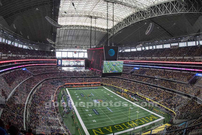 The University of Michigan football teams takes on the University of Florida in the Advocate Classic in Irving, Texas, on Sept. 2, 2017. The University of Michigan football team beats Florida, 33-17, in the Advocare Classic in Irving, Texas, on Sept. 2, 2017.