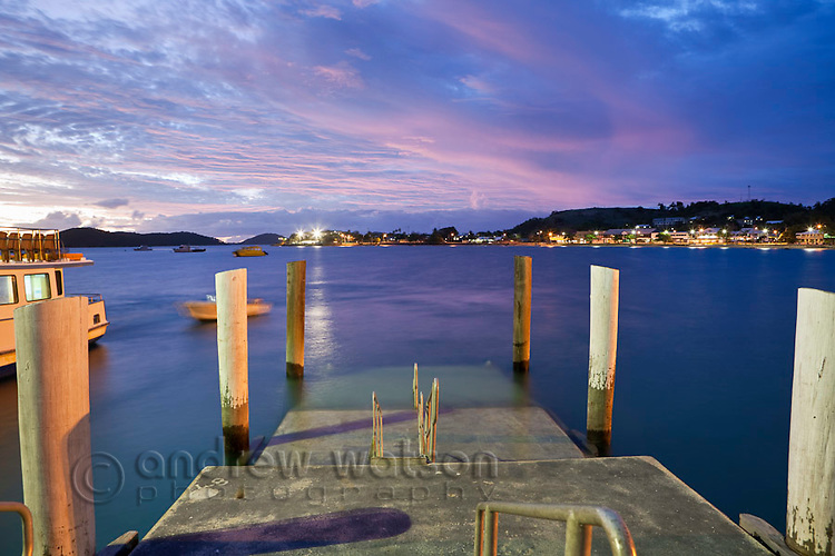 View from Engineers Wharf at dawn.  Thursday Island, Torres Strait Islands, Queensland, Australia