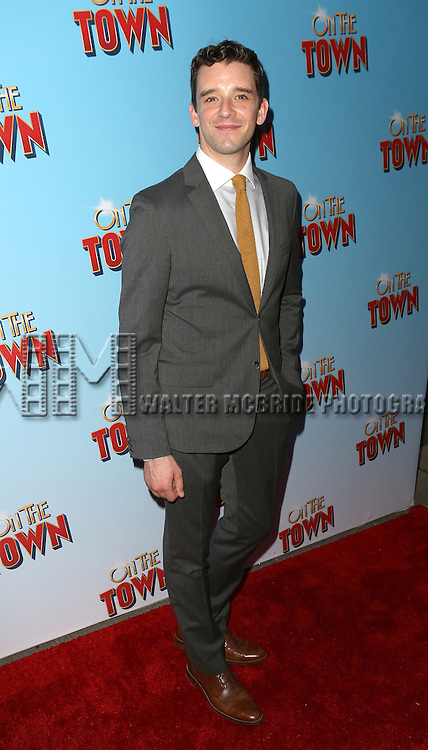 Michael Urie attends the Broadway Opening Night Performance of 'On The Town'  at the Lyric Theatre on October 16, 2014 in New York City.