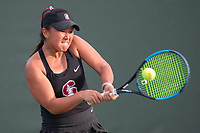 Stanford, CA: January 26, 2019 - Stanford Women's Tennis versus St. Mary's at Taube Tennis Center.