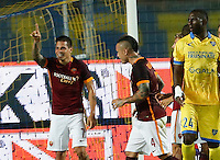 Esultanza Juan Iturbe  durante l'incontro di calcio di Serie A   Frosinone - Roma   allo  Stadio Matusa di   di Frosinone ,12  Settembre 2015
