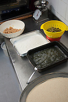 La preparazione delle Olive Ripiene. The preparation of Stuffed Olives.