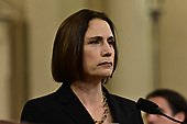 Dr. Fiona Hill, former Senior Director for Europe and Russia, National Security Council (NSC), listens to the opening remarks as she testifies during the US House Permanent Select Committee on Intelligence public hearing as they investigate the impeachment of US President Donald J. Trump on Capitol Hill in Washington, DC on Thursday, November 21, 2019.<br /> Credit: Ron Sachs / CNP<br /> (RESTRICTION: NO New York or New Jersey Newspapers or newspapers within a 75 mile radius of New York City)