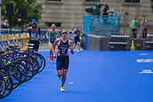 June 11th 2017, Leeds, Yorkshire, England; ITU World Triathlon Leeds 2017; Jessica Learmonth competes in the running phase around Leeds city centre