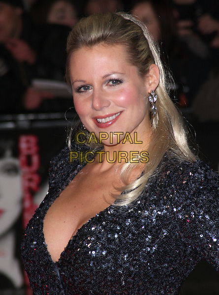 ABI TITMUSS.'Burlesque' UK Gala premiere at the Empire Cinema, Leicester Square, London, England, UK,.13th December 2010..portrait headshot smiling sequined sequin silver hair up earrings grey gray .CAP/ROS.©Steve Ross/Capital Pictures