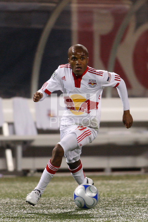 New York Red Bulls midfielder Dane Richards (19). The New York Red Bulls  and the New England Revolution played to a 1-1 tie during a Major League Soccer match at Giants Stadium in East Rutherford, NJ, on March 28, 2009. Photo by Howard C. Smith/isiphotos.com
