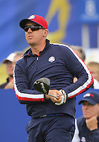 23 Sept 14 American Hunter Mahan during the Tuesday Practice Round at The Ryder Cup at The Gleneagles Hotel in Perthshire, Scotland. (photo credit : kenneth e. dennis/kendennisphoto.com)